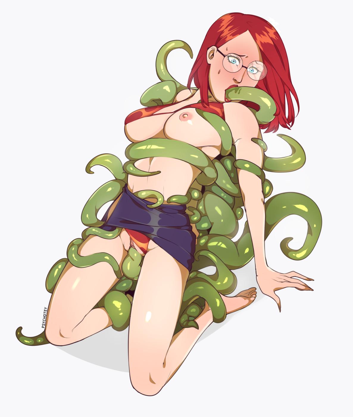 Sera vs. tentacles (commission)