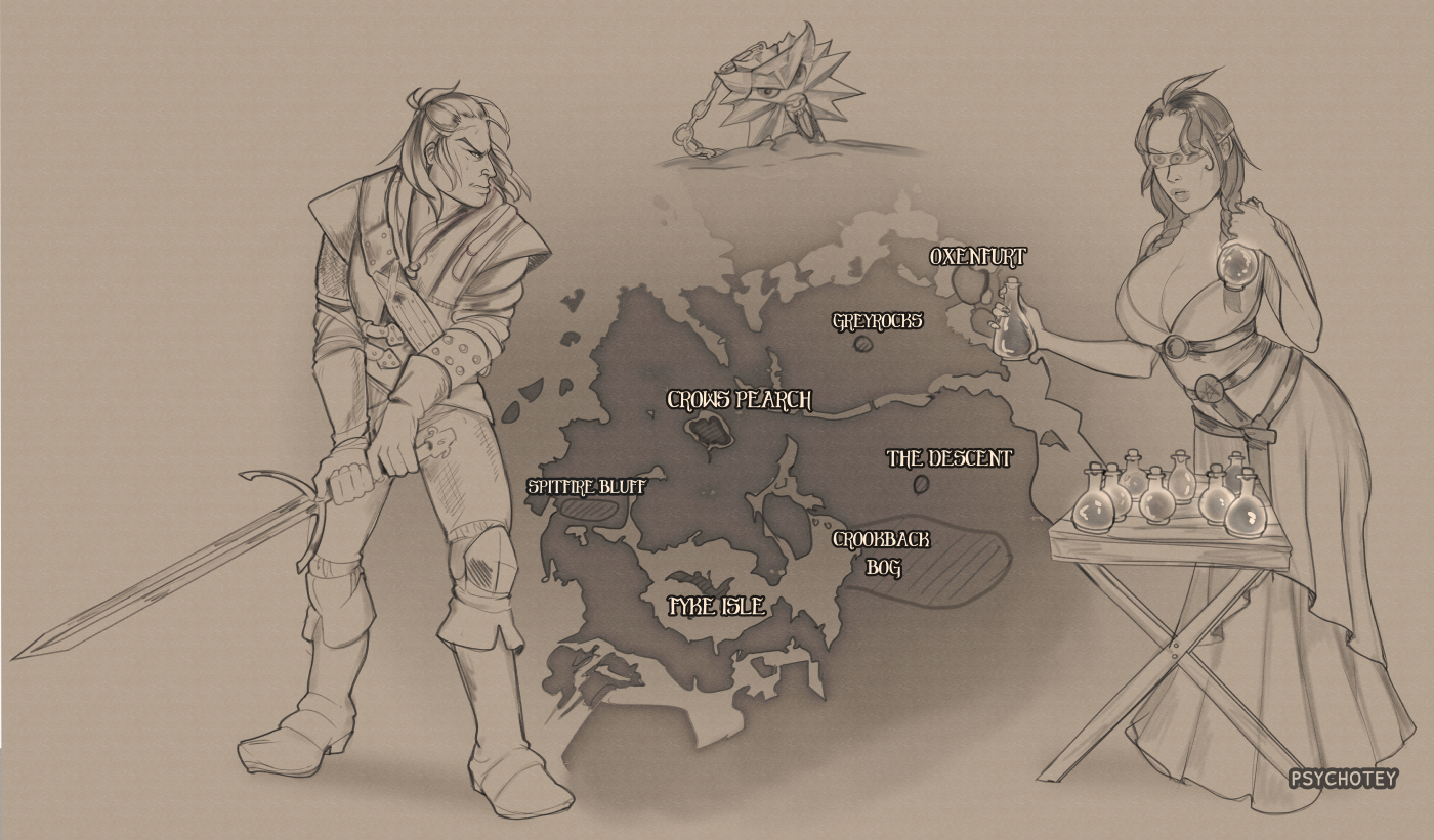 Map of Velen – commission