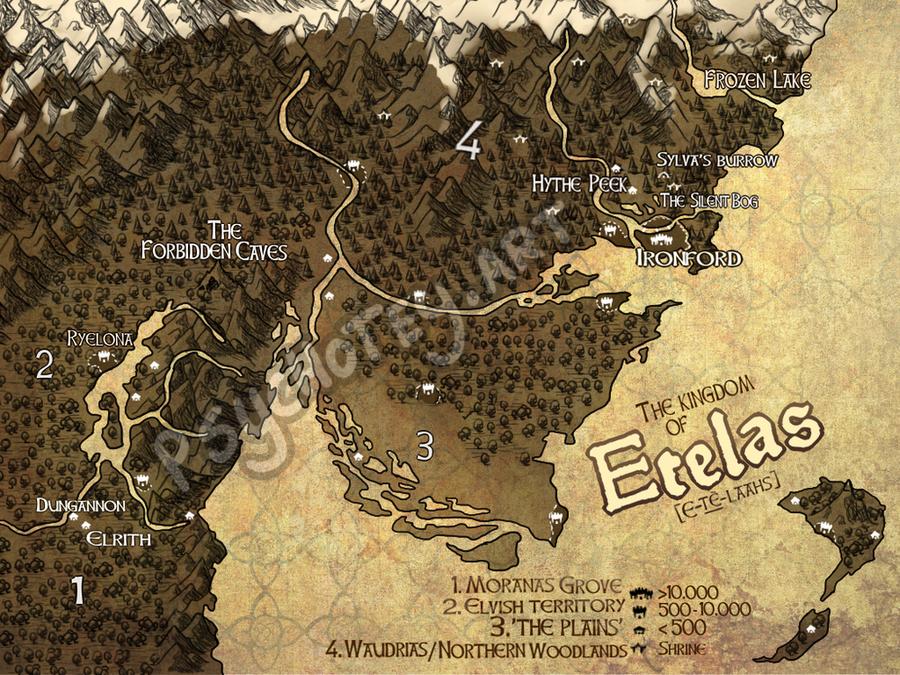 Map of Etelas